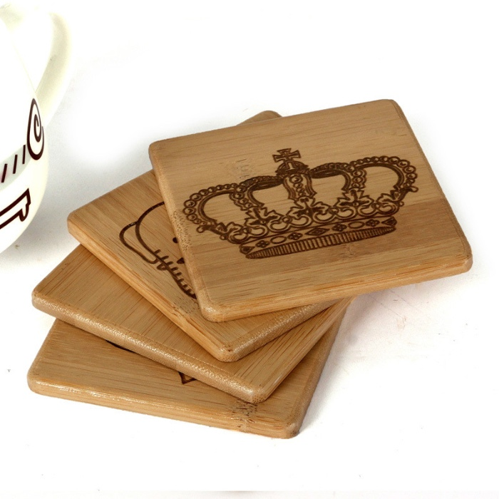 personalized logo coffee coaster cup coaster wood coaster