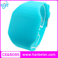 Digital silicone bracelet women fancy cheap promotional watch