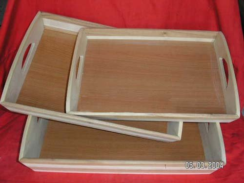 Wooden Serving Tray bamboo cutlery tray