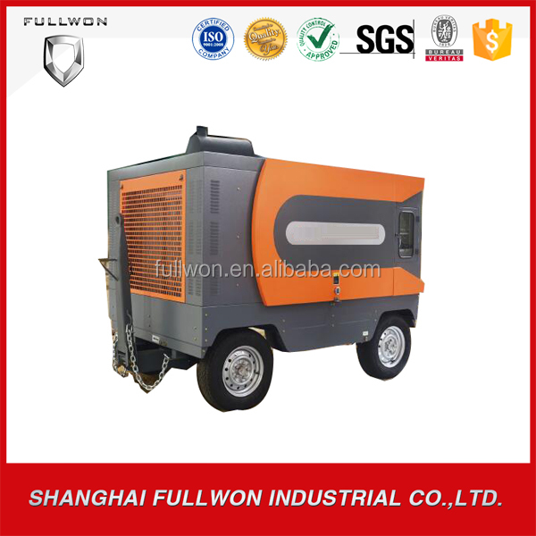 Efficiency ZEGA diesel engine driven portable air screw compressor