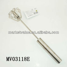 "14"" tube handle stainless steel push wisk"