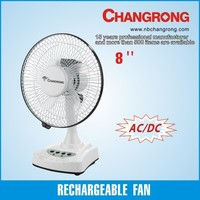 Eveready 6V motor AC/DC 8inch RECHARGEABLE MINI TABLE FAN HOT SELLING INDIA