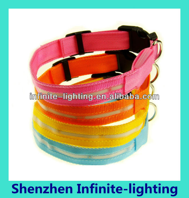 New arrival magnetic dog collar/led electronic dog collar