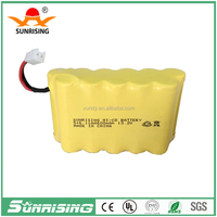 Sunrising Nicd AA 600mah 13.2V rechargeable battery pack