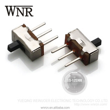 Goods in stock single pole 2 way DC toggle switch for electronic toy,slide switch SS-12D00