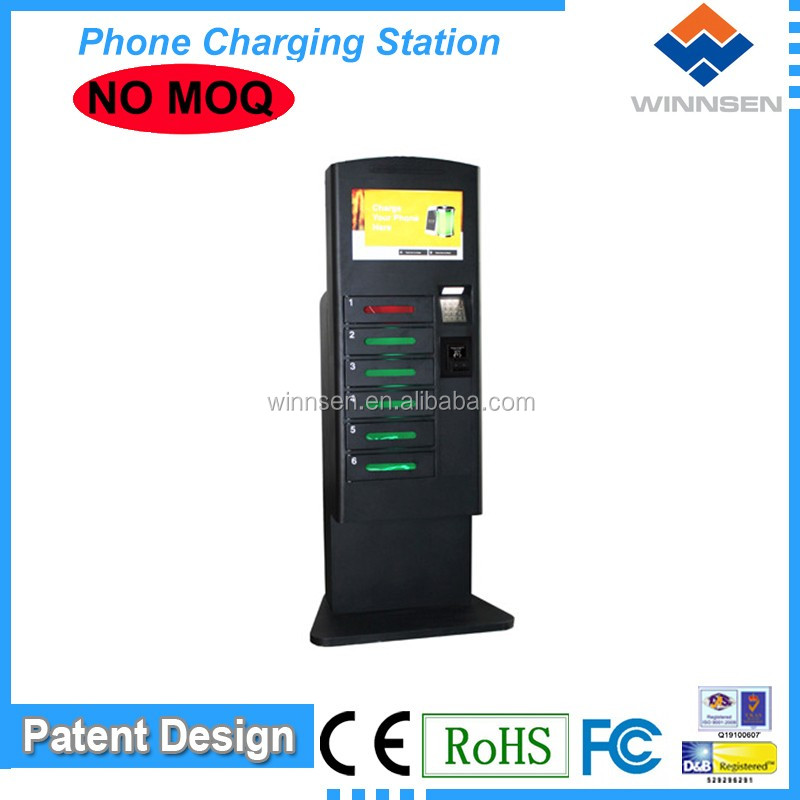 Brand/Logo custom locker cell phone charging station/ Mobile Phone ChaCell Phone Charging Station For Tablet Pc with LCD APC-06B