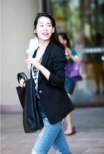 Glamorous Autumn fashion black ladies blazer designs