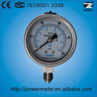 63MM all stainless steel pressure gauge for customized pressure range and thread manometro china suppliers