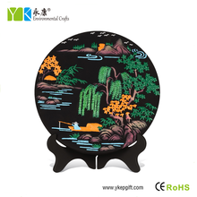 Fishing under the willow tree hand made wooden decoration for home