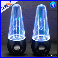 LED Hifi Stereo Water Dancing Bluetooth Subwoofer Speakers With Music Fountain Light USB PC Laptop Rhythm