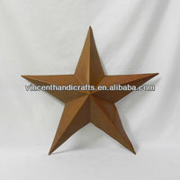 Wholesale good quality country antique rust metal barn star