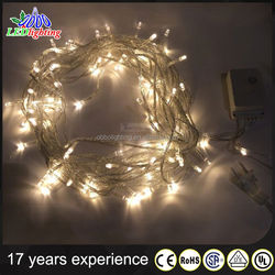 D:80cm Hollow LED Lighted christmas ball garland