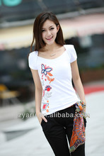casual dresses T-Shirt Embroidery women clothing apparel