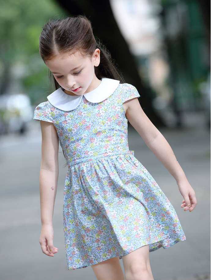 Baby girls dresses kid wear for summer normal frock designs