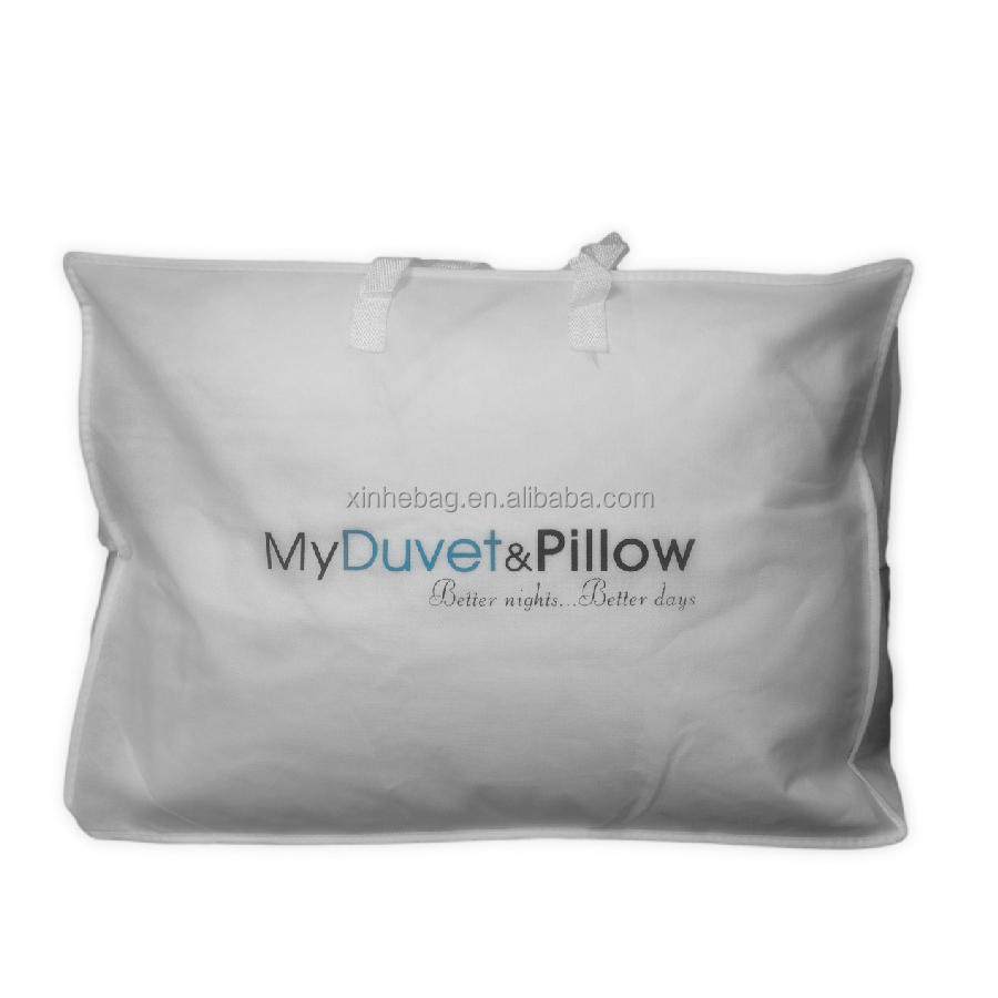 Hot sale screen printed eco friendly 140gsm cotton pillow packaging bag