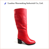 Red sexy leather fashion lady winter boots for 2013-2014