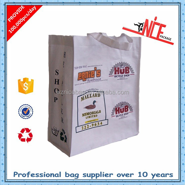 China reusable laminated pp woven shopper bag