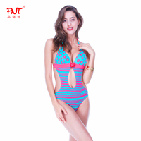 PNT high quality Swimwear Manual knitting flower decoration sexy Women One Piece Swimsuit 2016