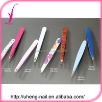 Fashion beauty colorful cosmetic eyebrow tweezer with girl or lady