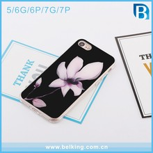Lotus Printing Anti Gravity Case for iPhone 7 TPU PC , Hard Anti Gravity Mobile Phone Case for iphone 5