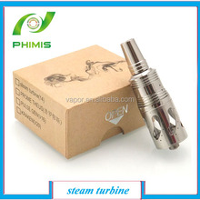 2014 hot sell new clone on factory price stainless steel tank e cig Steam turbine atomizers