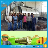 2016 high oil yield continuous waste tyre recycling to diesel plant/scrap tyre pyrolysis machine