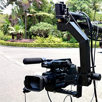 Video Camera Crane Remote Pan Tilt Motorized Head with Controller Kit&Adapter&10m Control Cable