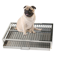 Stainless steel material 68*46*12 cheap portable indoor dog pet toilets for sale