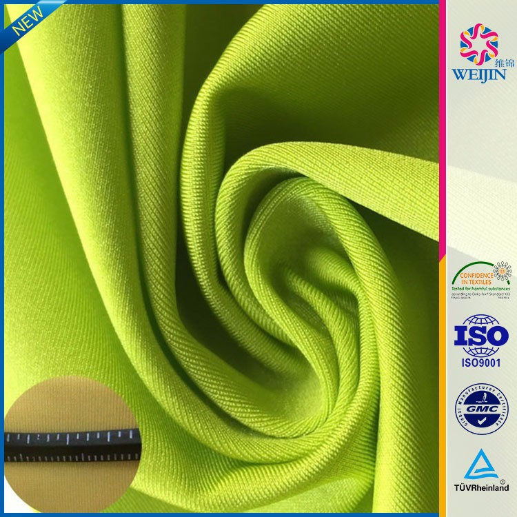 Custom Grass Green Knit 95 Rayon 5 Spandex Fabrics