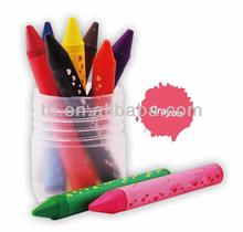 Jumbo Size Crayon in Plastic Drum Packaging with logo printing SA8000 children stationery sets
