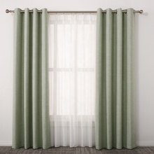professional curtain supplier best selling green black out ready made curtain