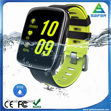 2017 new arrival fashion IP68 waterproof heart rate sport smart watch for swimming, depth up to 3 meters