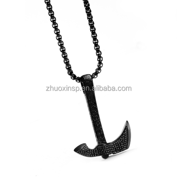 stainless steel axe punk <strong>necklace</strong>