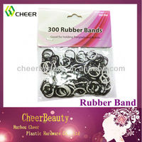 white&black hair rubber bands