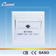 high quality PC hotel power card key wall <strong>switch</strong>