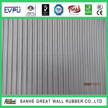 V-Grooved Fine Wide Ribbed Commercial & Industrial Rubber Mat corrugated Rubber Flooring