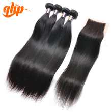 QHP Natural virgin hair Malaysian Indian and brazilian Straight human hair