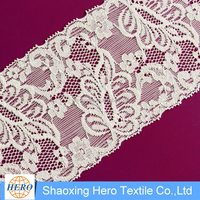 Eco-friendly knitted chemical embroidery lace fabric