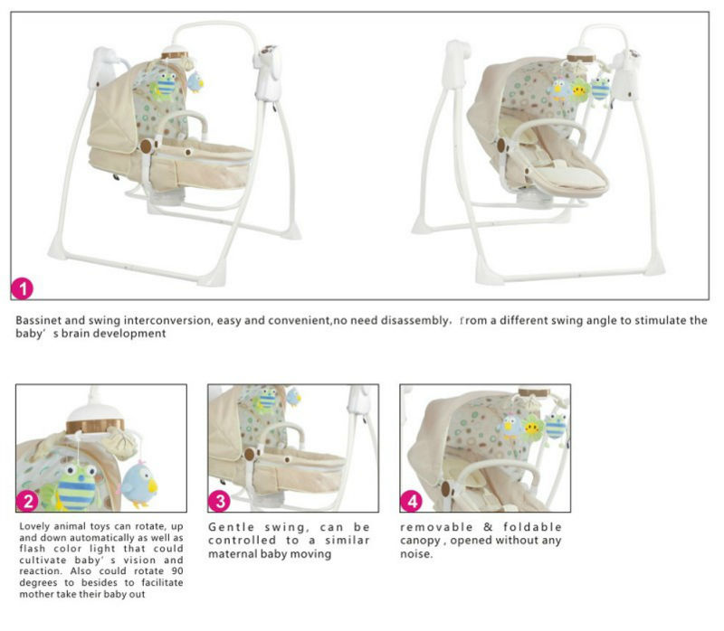 Latest multifunctional baby swing bassinet EN16232