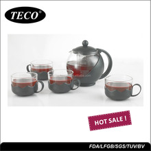 Promotional glass lucky tea pot set with high quality