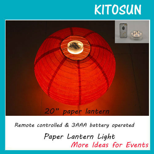 New Design Battery Operated Super Bright Warm White LED Light Chinese Paper Lanterns