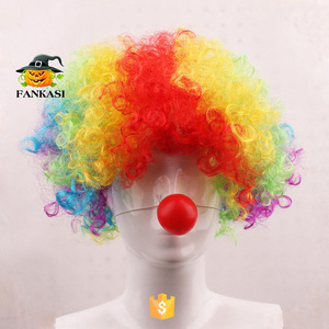 Sintetico a buon mercato custom party parrucca clown