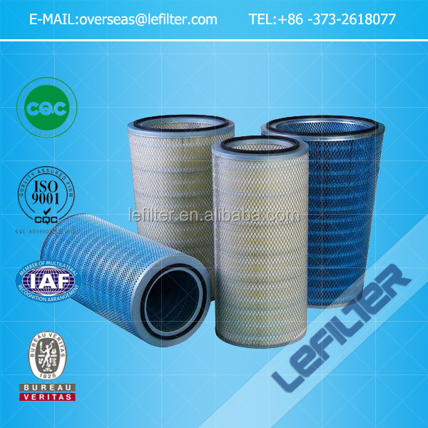 Air filter cartridge for dust collection