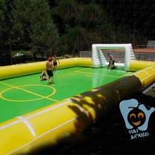 newest outdoor play giant new inflatable soccer field for sale