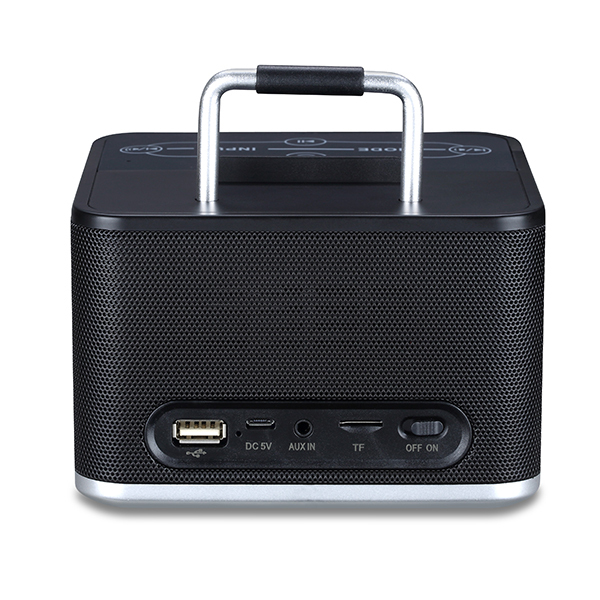 Home Portable Wireless Bluetooth stereo Speaker with Dock,FM Radio and 2 Alarm Clock