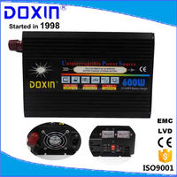 DC/AC Single output type 600w power inverter with UPS charger modified sine wave power inverter 12v 220v
