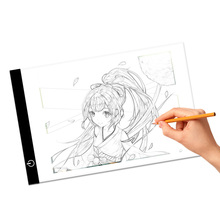 A4 Ultrathin drawing pad LED tracing board led light box with 3 levels dimming and stepless brightness for animation