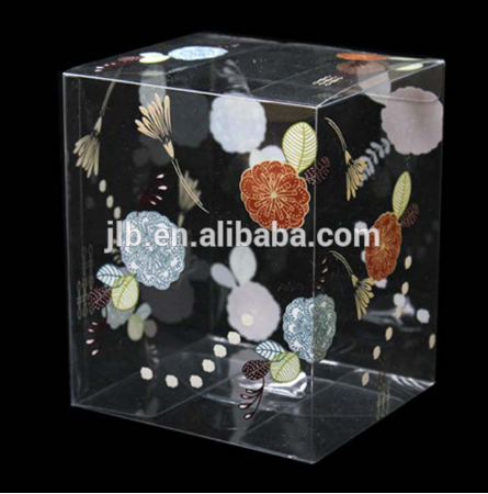 Custom made PVC packaging storage box clear plastic containers