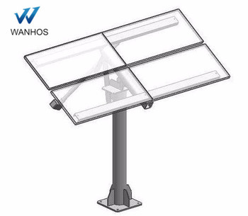 anodized solar panel pole mounting system