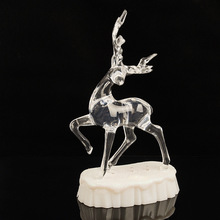 2017 Beautiful Transparent Christmas Toy Crystal Christmas Deer for the Christmas decoration